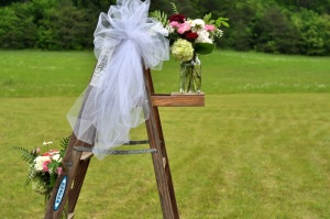 ladder bouquets