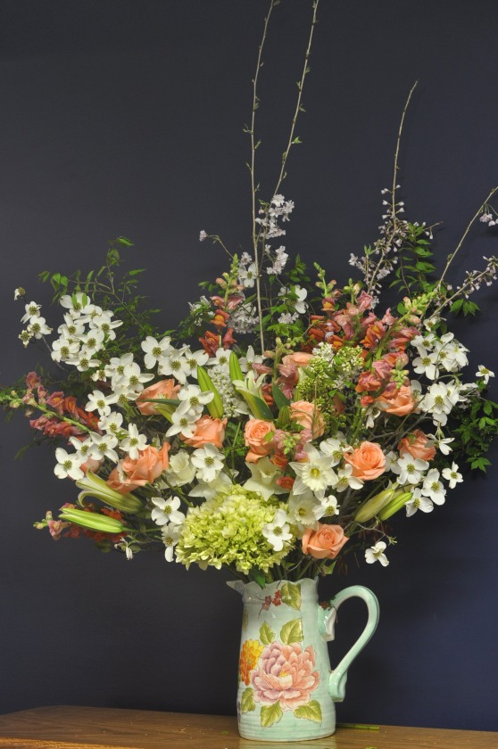 dogwood, roses, spring