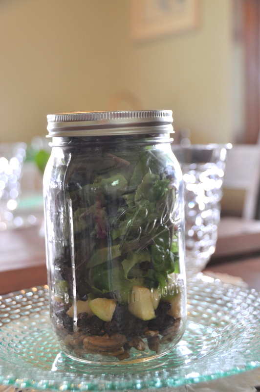 Luncheon idea - salad in a jar!