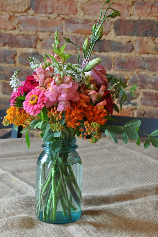 ball jar bouquets