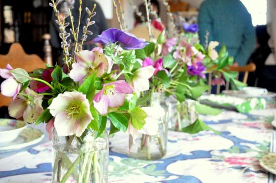 table lenten roses